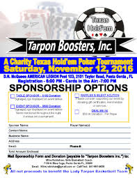 Basketball Coach Business Cards Tarpon Boosters Inc Texas Hold U0027em Tournament Events In The