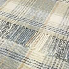 throw by the lambswool grey windowpane blanket check throw 140x185 cms family