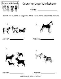 Homeschool Kindergarten Worksheets Kindergarten Counting Dogs Worksheet Printable Worksheets