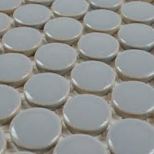 Ceramic Tile Backsplashes by Porcelain Tile Backsplash Penny Round Mosaic Glazed Ceramic Tile