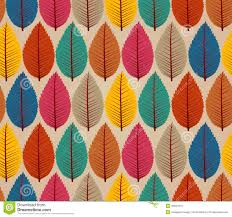 vintage autumn leaves seamless pattern background stock vector