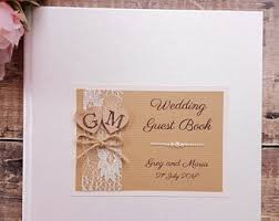 large wedding guest book large guest book etsy