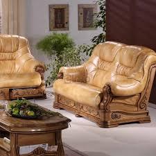 canape cuir vachette cuvette canapé stylisé avec tiroirs cuir vachette amina
