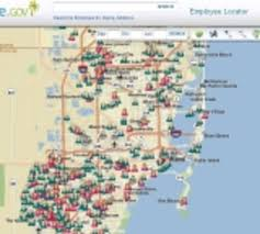 Miami Dade Zip Code Map by County Plots Employees On Map To Aid Disaster Response