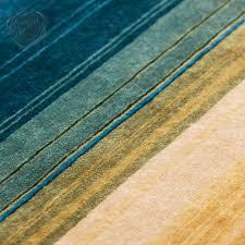 Turquoise Brown Rug Gandia Blasco Paysages Landscape Rug Multi Stripe Brown Cream