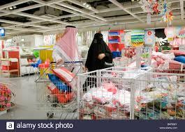 ikea dubai people shopping at ikea home furnishing store in dubai uae stock