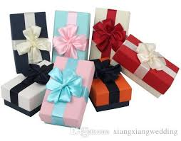 wrapping boxes top grade small gift box candy wrapping box kraft paper lace bow