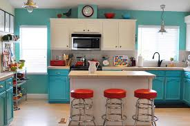 Blue Kitchen Island Awesome Kitchen Remodels With White Kitchen Cabinets And Small