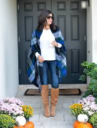 tartan plaid cape scarf beautifully seaside