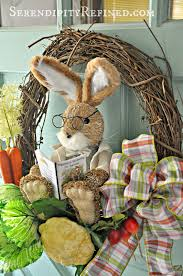 How To Make A Spring Wreath by Serendipity Refined Blog Easy Diy Peter Rabbit Spring Wreath Door