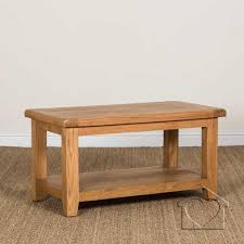 heritage rustic oak coffee table with shelf 169 00 a