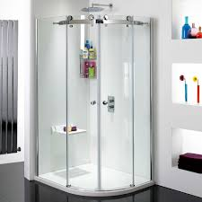 Frameless Shower Doors Phoenix by Phoenix Frameless Offset Double Door Quadrant Shower Enclosure