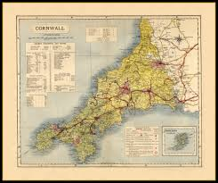 Essex County Map Paper Laminated Cornwall Map Okinawa On Map