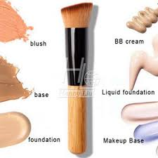 professional full featured foundation makeup brush cream flat top