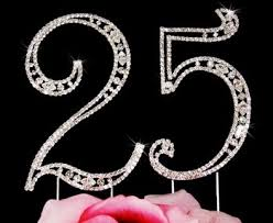 25th anniversary cake toppers 25th birthday swarovski cake topper 25th