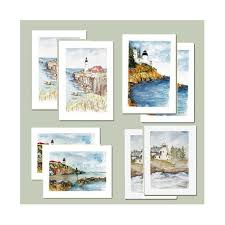 watercolor notecards lighthouse notecards boxed set maine