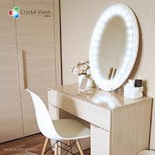 Table Vanity Mirror With Lights Amazon Com Crystal Vision Hollywood Style Makeup Mirror Led