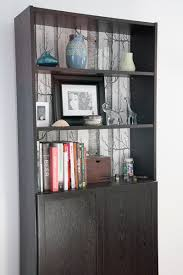 Billy Bookcase Diy Project 1 Wallpapered Book Shelves