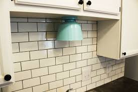Do It Yourself Kitchen Backsplash How To Install A Subway Tile Kitchen Backsplash