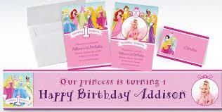 custom disney princess 1st birthday invitations u0026 thank you notes