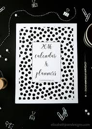 printable planner cover 2016 free 2016 printable calendar planners elizabeth joan designs