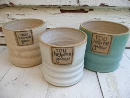 personalized flower pot gift clay flower pot stoneware flower pot personalized