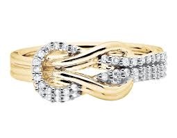 real diamond engagement rings 10k yellow gold infinity knot ribbon genuine real diamond