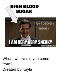 Where Did Memes Come From - high blood sugar type 1 diabetes memes i am very tery sneaky
