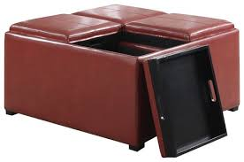 Simpli Home Storage Ottoman Simpli Home Avalon Coffee Table Storage Ottoman Red Ay F 07 Rrd
