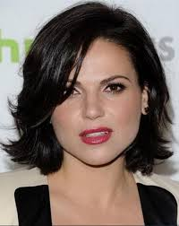 short hairstyles with center part and bangs beautiful short hairstyles side parted for round faces women with
