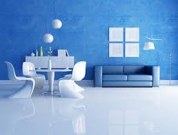 blue sofa in the living room wallpapers and images wallpapers