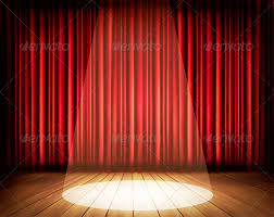 Stage With Curtains Pin Powerpoint Red Stage Curtains 6647