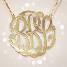 monogram necklaces gold medium 14k gold monogram necklace