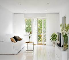All White Living Room by Luxury Small Manhattan Apartment Living Room With Simple Fall All