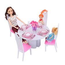 barbie dining room set doll house furniture 94011 dining room play set for barbie doll in