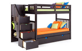 Bunk Bed With Storage Stairs Keystone Stairway Bunk Bed With Storage Trundle Unit Bob S