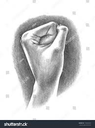 hand air fist pump drawing sketch stock illustration 110487200
