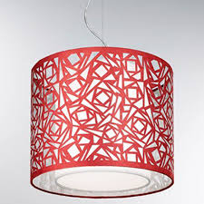 Red Ceiling Lights by Fabric Pendant Lights From Easy Lighting