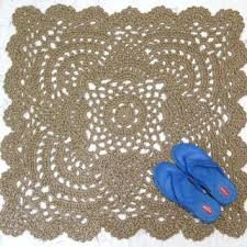 Pineapple Outdoor Rug Lacy Square Jute Rug Pineapple Crochet From Exotiflora