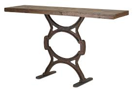 wood and iron sofa table wood iron console table 60 w