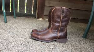 mens wide motorcycle boots ariat mens rambler wide square toe western cowboy boot youtube
