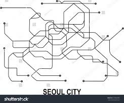 Seoul Subway Map by Seoul City Subway Map Stock Vector 273082889 Shutterstock