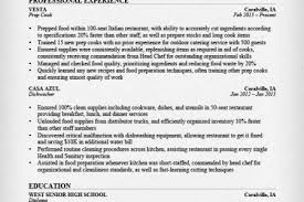 Sample Resume For Prep Cook by Prep Cook Resume Objective Reentrycorps