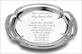engraved silver platter bar mitzvah invitation etsy