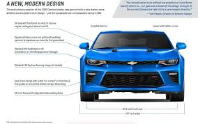 light blue camaro 2016 chevrolet camaro playbook contains 15 pages of goodies