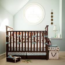 Cheap Nursery Bedding Sets by Baby Nursery Fair Decorating Ideas Using Rectangular Brown Wooden
