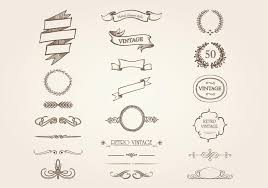 vintage ornament vector pack free vector