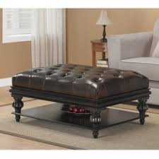 tufted ottoman with shelf foter