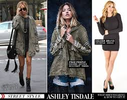 Free People Parka Ashley Tisdale Goes Holiday Shopping In Chaser Brand Free People