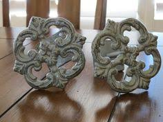 Shabby Chic Curtain Holdbacks by Curtain Tiebacks Cast Iron Tie Backs By Veritasinspired